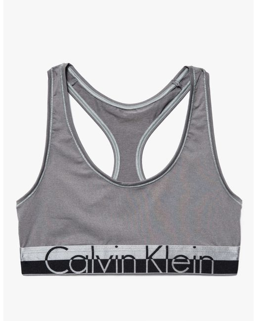 calvin klein magnetic force bralette in gray steel grey. Black Bedroom Furniture Sets. Home Design Ideas