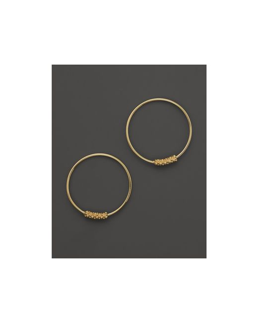 Lagos | Metallic 18k Gold Hoop Earrings | Lyst