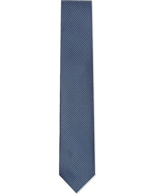 Corneliani   Blue Tonal Dash Silk Tie for Men   Lyst