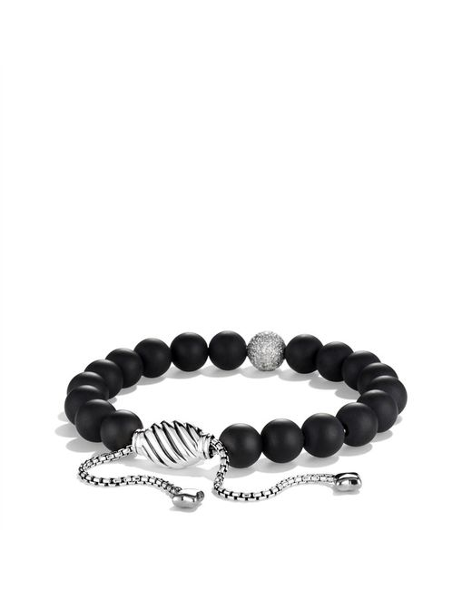 David Yurman | Spiritual Beads Pave Station Bracelet With Black Onyx And Black Diamonds | Lyst