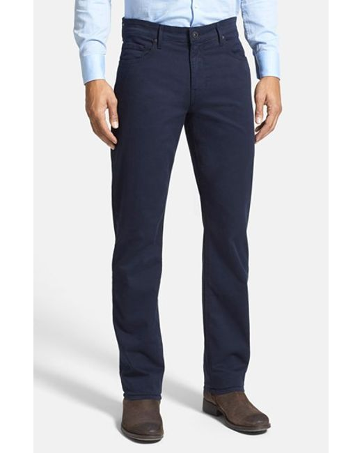 PAIGE | Blue 'normandie' Slim Straight Leg Twill Pants for Men | Lyst
