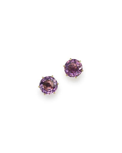 Ippolita | Purple 18k Gold Rock Candy® Medium Round Stud Earrings In Dark Amethyst | Lyst
