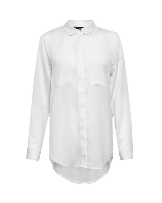 French Connection | White Polly Plains Shirt | Lyst