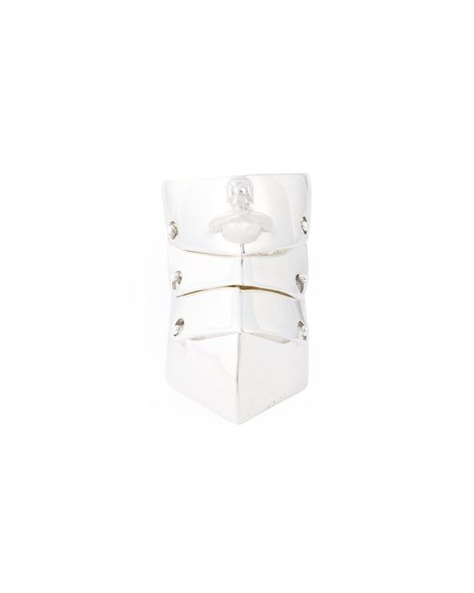 Vivienne Westwood Anglomania | Metallic 'armour' Ring | Lyst