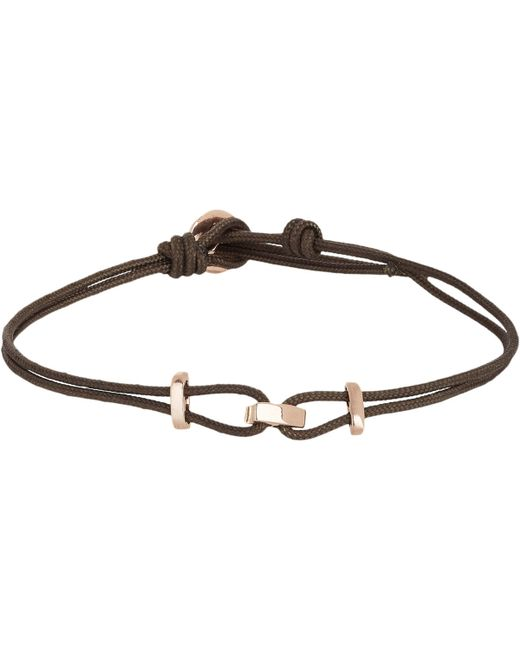Zadeh | Pink Rose Gold & Parachute Cord Bracelet for Men | Lyst