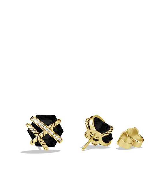 david yurman cable wrap earrings with black onyx and