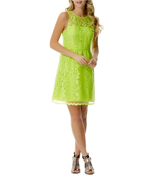 Laundry by Shelli Segal | Green Floral Sheath Dress | Lyst