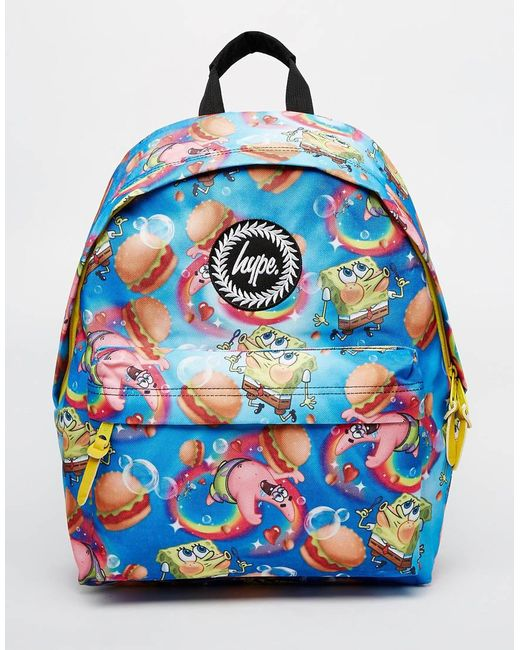 Hype X Spongebob Backpack With Burger And Patrick Print In