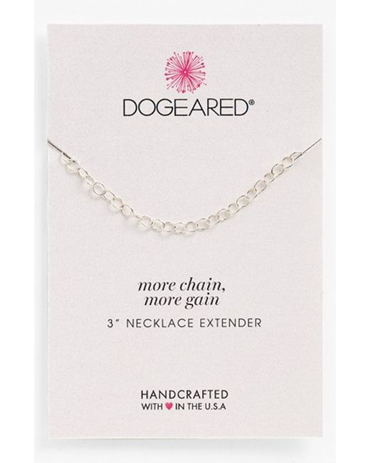Dogeared | Metallic Necklace Extender | Lyst