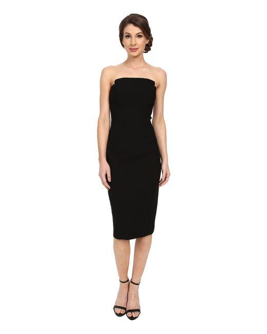 Jill Jill Stuart Strapless Knee Length Fitted Crepy Dress