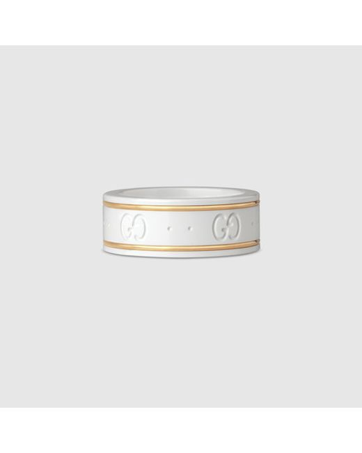 Gucci | Icon Ring In Yellow Gold | Lyst