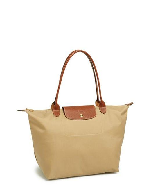 Longchamp | Brown Le Pliage Large Tote | Lyst