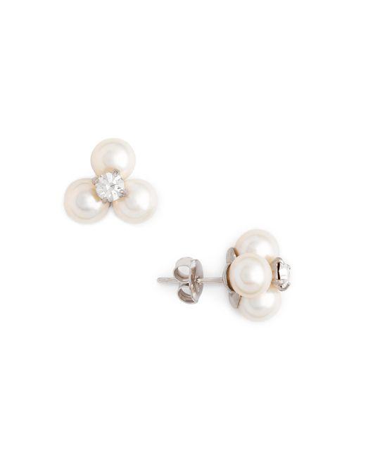 J.Crew | White Freshwater Pearl Clover Earrings | Lyst