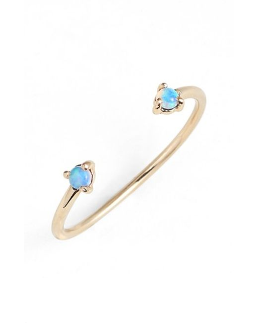 Wwake | Blue 'counting Collection - Two-step' Opal Ring | Lyst