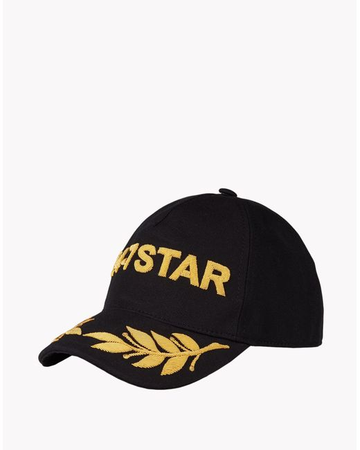 DSquared²   Black Logo Cotton Baseball Cap for Men   Lyst