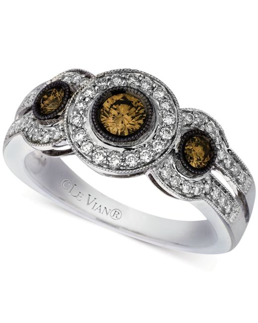 Le Vian | Metallic Chocolatier® Diamond Ring (3/4 Ct. T.w.) In 14k White Gold | Lyst