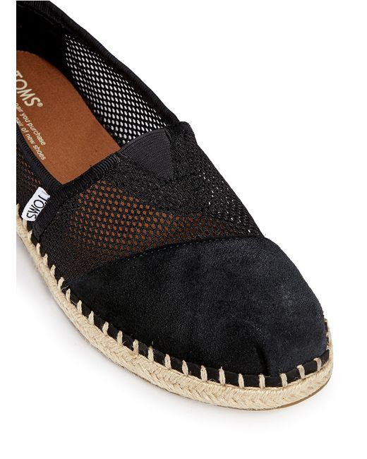 Womens Black Suede Slip On Shoes