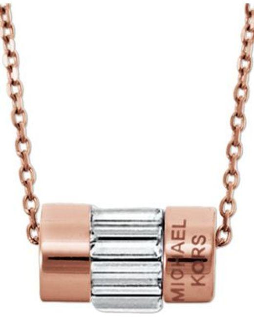 Michael Kors | Pink Mkj4951791 Ladies Necklace | Lyst