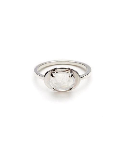 Anna Sheffield | Metallic Moonstone Classic Amulet Ring | Lyst