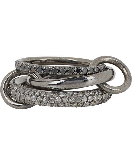 Spinelli Kilcollin | Metallic Solaris Gris Pavé Noir Ring | Lyst