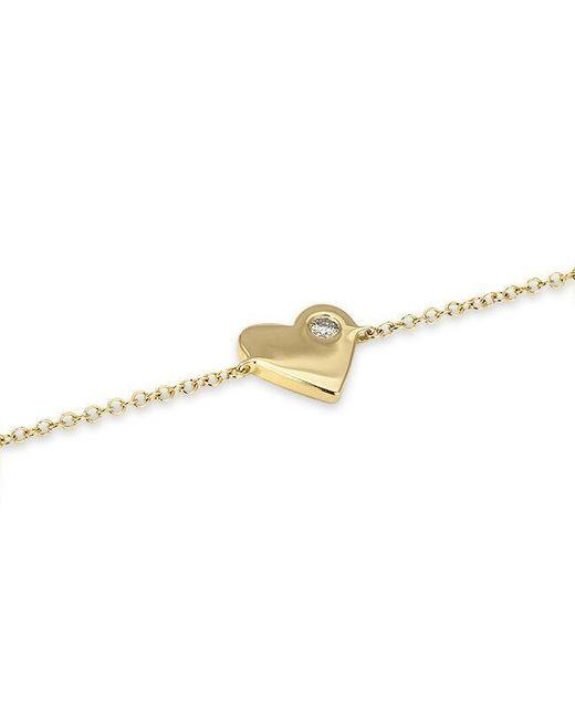 Anne Sisteron | Metallic 14kt Yellow Gold Diamond In My Heart Bracelet | Lyst