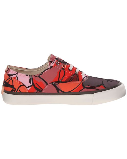paul smith balfour floral canvas sneaker in brown