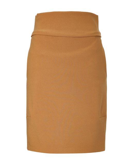 jil sander wool saetta pencil skirt camel in brown