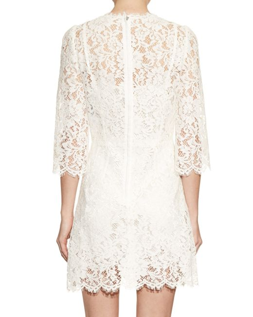 Gabbana and Dolce white lace dress recommend to wear in autumn in 2019