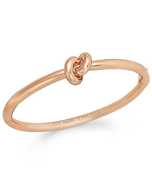 Kate Spade | Metallic Bracelet, Sailor's Knot Hinge Bangle Bracelet | Lyst
