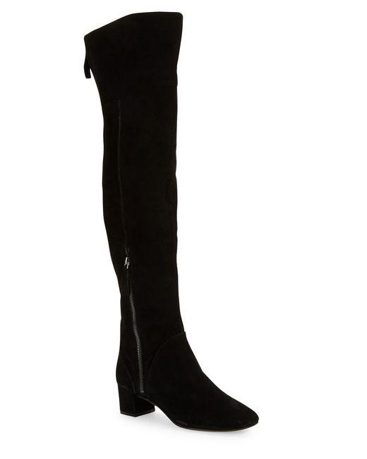 Nine West | Black Arnalda Suede Knee-high Boots | Lyst