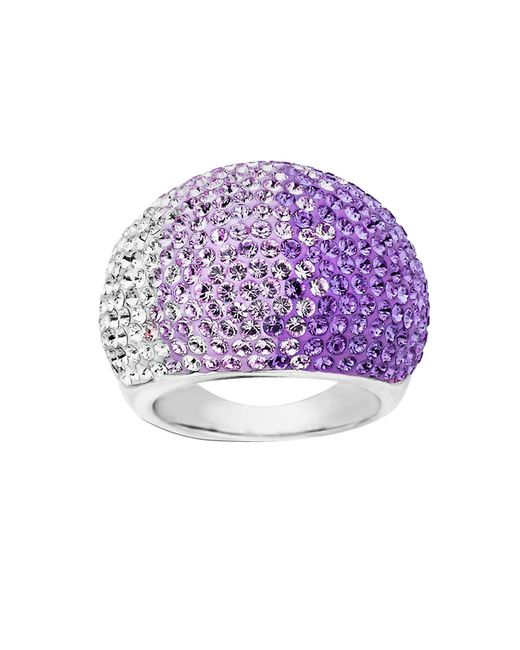 Lord & Taylor | Purple Sterling Silver Faded Tanzanite Colored Crystal Ring | Lyst