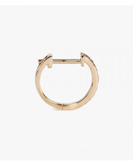 Ariel Gordon | Metallic 14k Pave Huggie Earring | Lyst