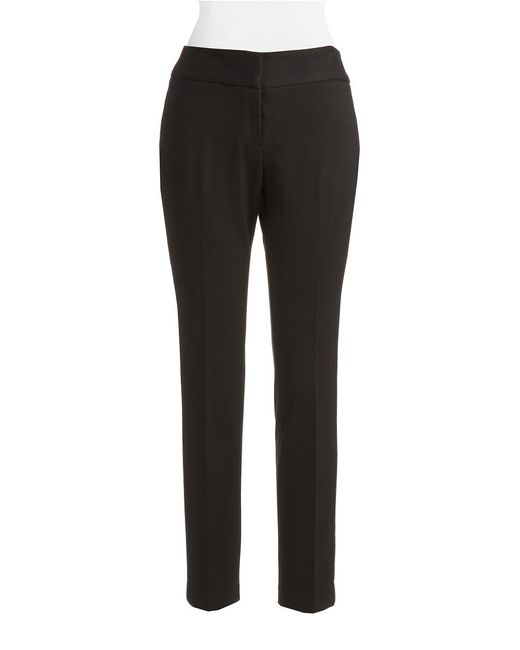 Vince Camuto | Black Petite Flat Front Ankle Pants | Lyst