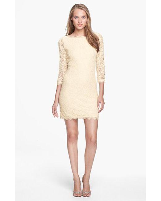 Diane von Furstenberg   White 'zarita' Lace Sheath Dress   Lyst