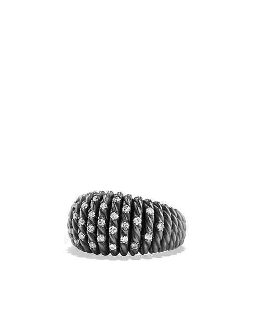 David Yurman   Metallic Ring With Diamonds   Lyst
