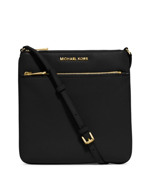 michael michael kors bedford leather crossbody bag in black lyst. Black Bedroom Furniture Sets. Home Design Ideas