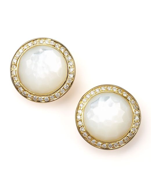 Ippolita | Metallic Mother-Of-Pearl Diamond Earrings | Lyst