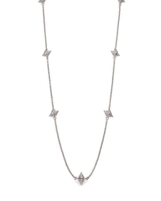 Eddie Borgo | Metallic Pave Crystal Double-cone Station Necklace | Lyst