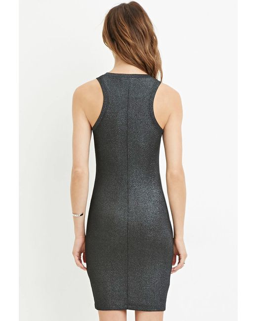 Forever 21 | Blue Contemporary Metallic Knit Dress | Lyst