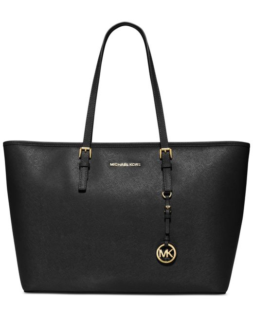 Michael Kors | Black Jet Set Travel Medium Top Zip Multifunction Tote | Lyst