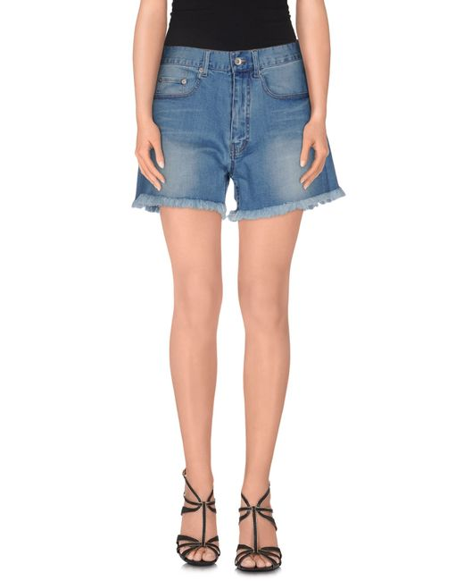 5preview | Blue Denim Shorts | Lyst