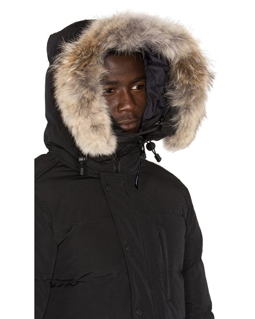 Canada Goose toronto replica store - Canada goose Carson Black Fur-trimmed Parka in Black for Men | Lyst