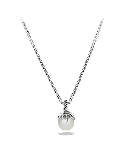 David Yurman | White Starburst Pearl Pendant Necklace With Diamonds | Lyst