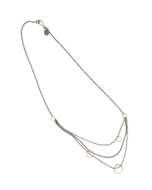 Melissa Joy Manning | Metallic 3 Layer Draping Silver And Gold Chain Necklace | Lyst