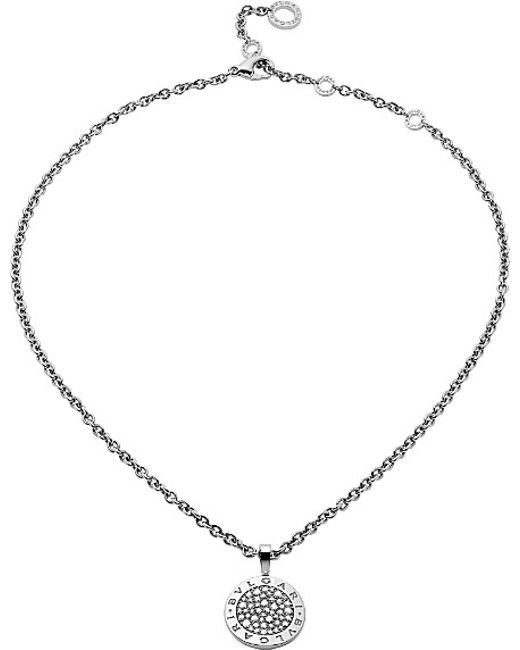BVLGARI | - Reva 18kt White-gold And Diamond Necklace | Lyst