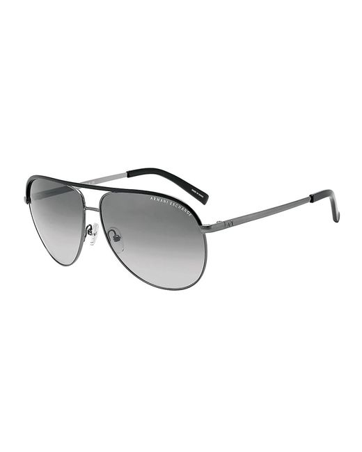 Armani Exchange | Black Pilot Aviator Sunglasses for Men | Lyst