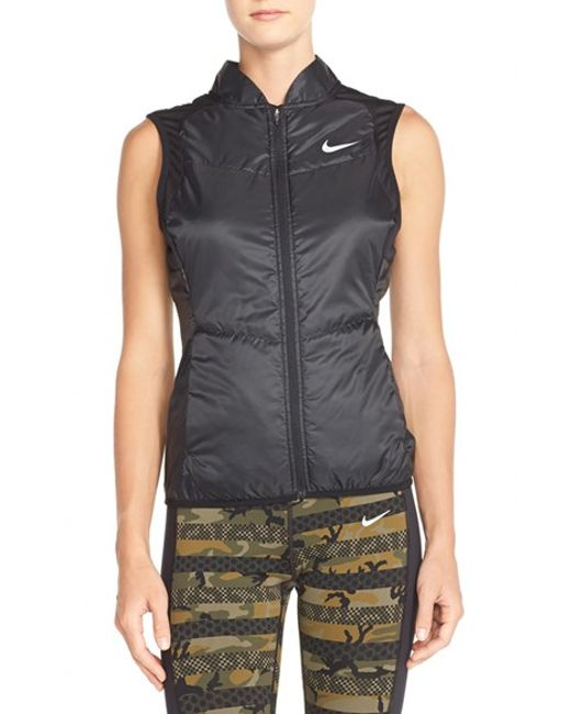 Nike | Black Insulated Water-Resistant Vest | Lyst