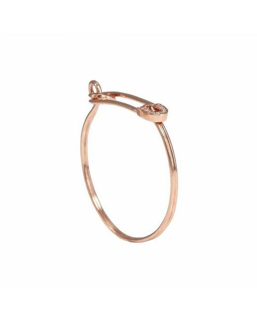 Sydney Evan | Pink Rose Gold & Diamond Safety Pin Bracelet | Lyst