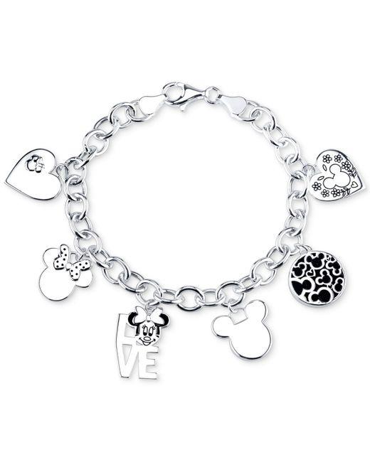 Mickey Mouse Charm Bracelet: Disney Mickey Mouse Charm Toggle Bracelet In Sterling