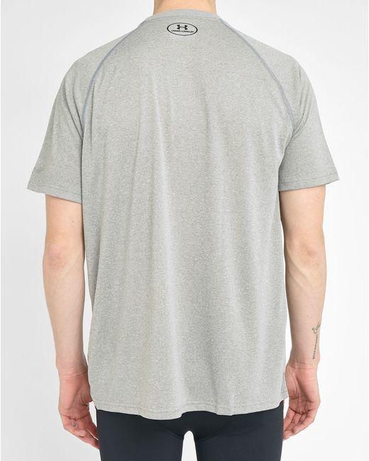 Under Armour Grey Tech Short T Shirt In Gray For Men Grey